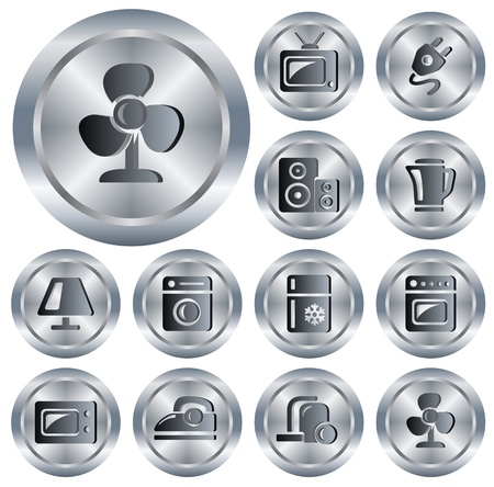 Home electronics button set Stock Vector - 13964333