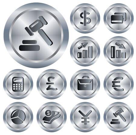 Finance button set Vector