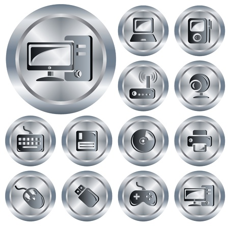 Hardware button set Stock Vector - 13964327