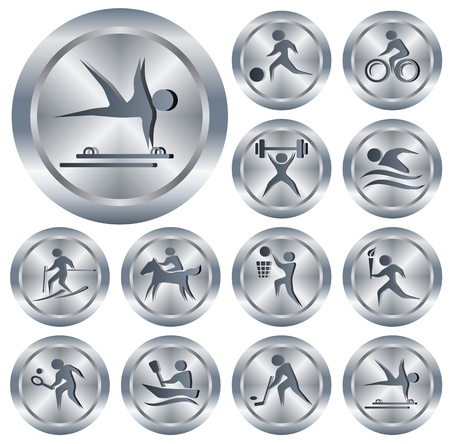 Sport button set Stock Vector - 14001829