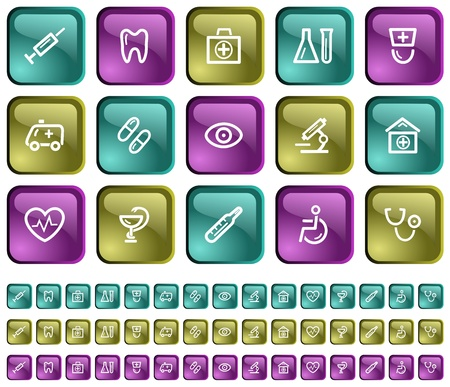 Medical button set Stock Vector - 14001839