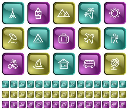 Travel button set Stock Vector - 14001847