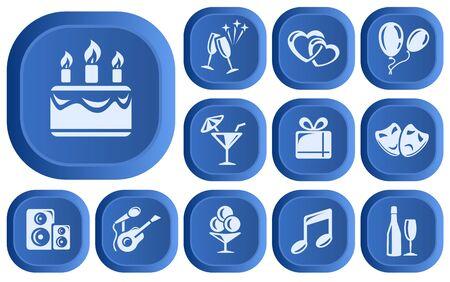 Party button set Vector