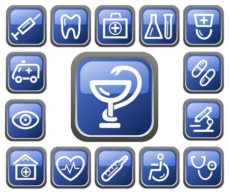Medical button set Stock Vector - 14235924