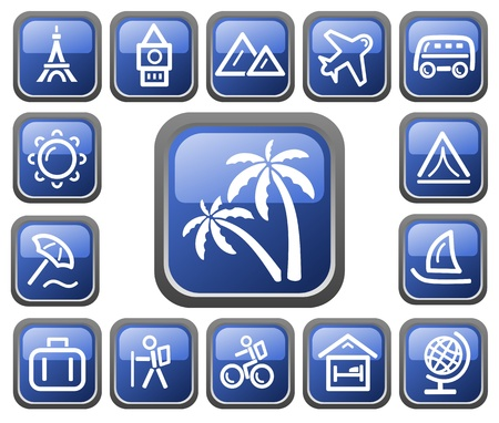 Travel button set Stock Vector - 14235931