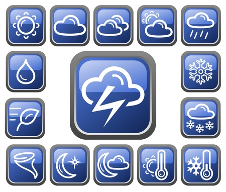 Weather button set Stock Vector - 14235930