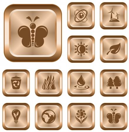 Environment button set Stock Vector - 14235959