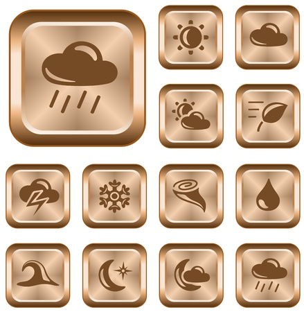 Weather button set Stock Vector - 14235936