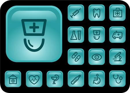 Medical button set Stock Vector - 14476869
