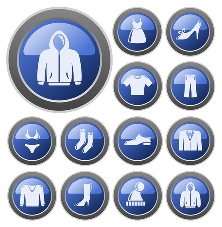Clothes button set Stock Vector - 14476871