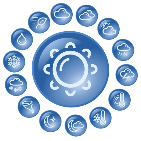 Weather button set Stock Vector - 14530577