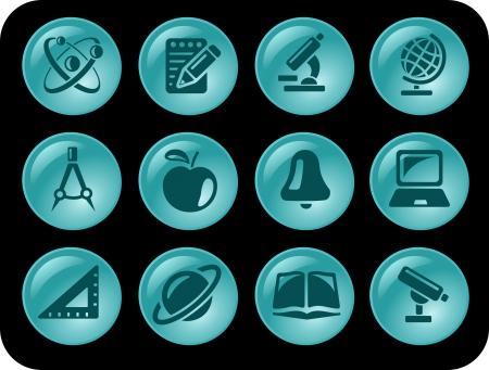 Education button set Vector