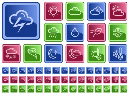 Weather button set Stock Vector - 14573544