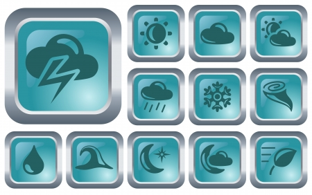 Weather button set Stock Vector - 14573412