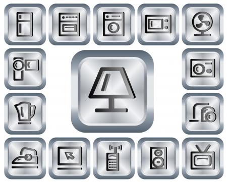 Home electronics button set Stock Vector - 14607539