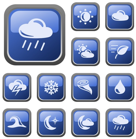 Weather button set Illustration