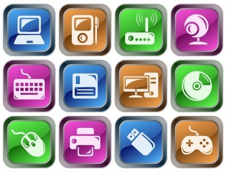 icono computadora: Conjunto de botones de hardware