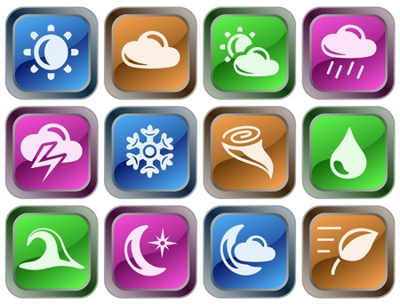 Weather button set Stock Vector - 14836912