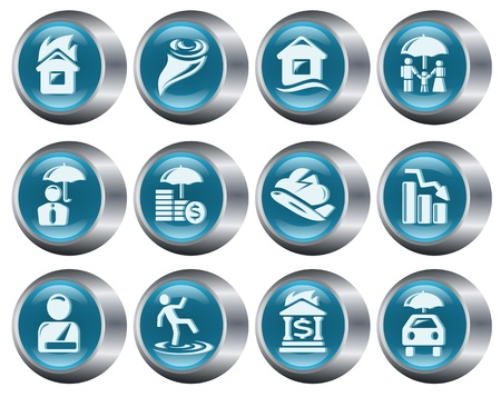Insurance button set Stock Vector - 14897282