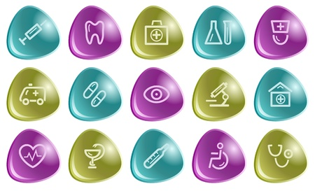 Medical button set Stock Vector - 15306657