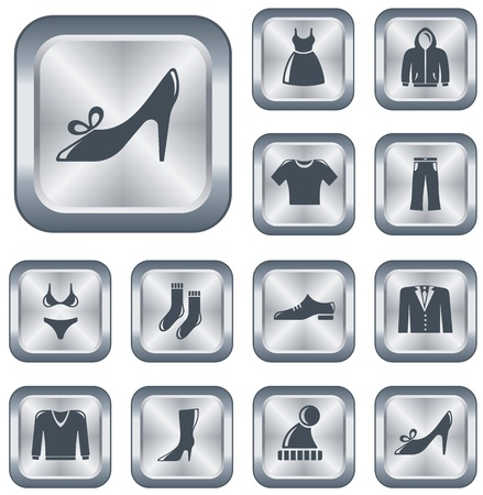 Clothes button set Vector