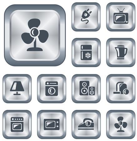 Home electronics button set Stock Vector - 15306675