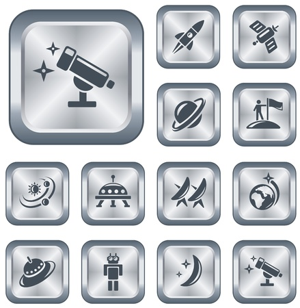 Space button set Stock Vector - 15306642