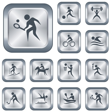 Sport button set Stock Vector - 15306669