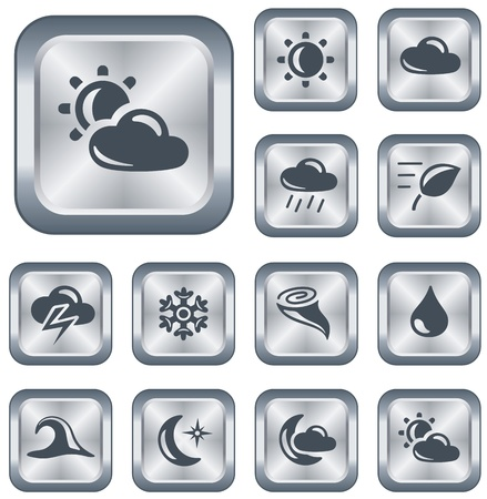 Weather button set Stock Vector - 15306673