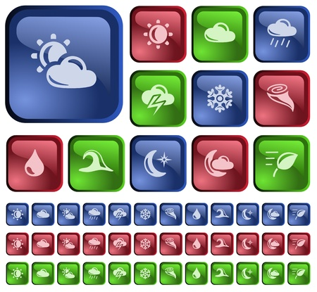 Weather button set Stock Vector - 15472993