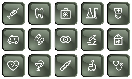 Medical button set Vector