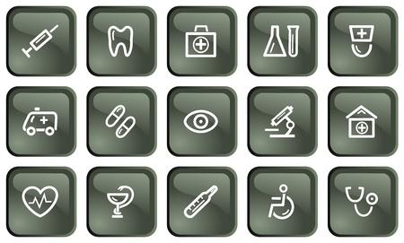 Medical button set Stock Vector - 15545196