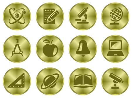 Education button set Stock Vector - 15777194