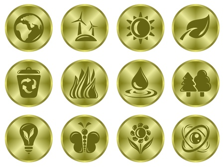 Environment button set Stock Vector - 15777206