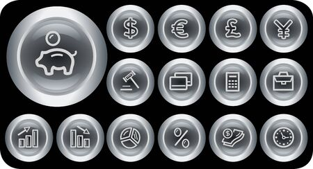 Finance button set Stock Vector - 15879244