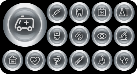 Medical button set Stock Vector - 15879218