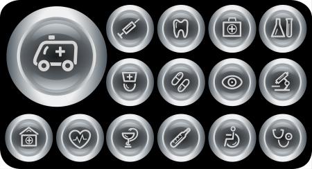 Medical button set Stock Vector - 15879218