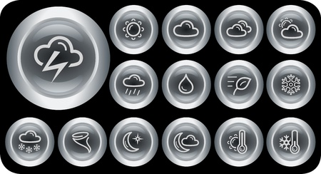 Weather button set Stock Vector - 15879247