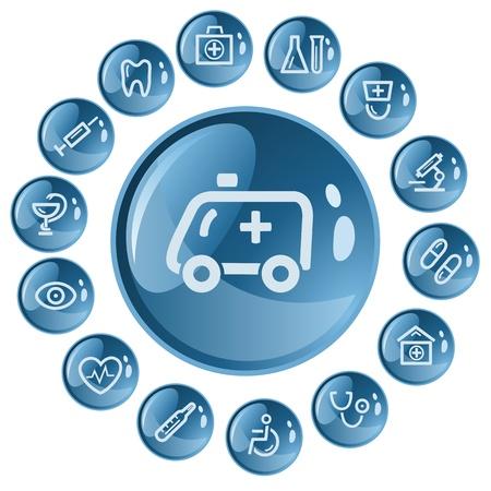 Medical button set Stock Vector - 16123485