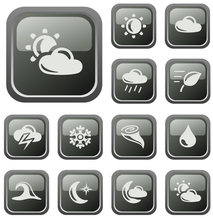 Weather button set Stock Vector - 16236118