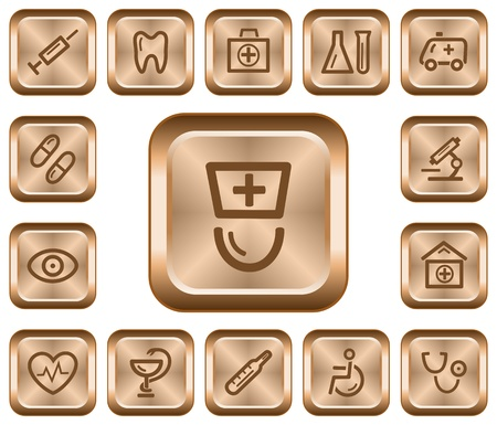 Medical button set Stock Vector - 16331244