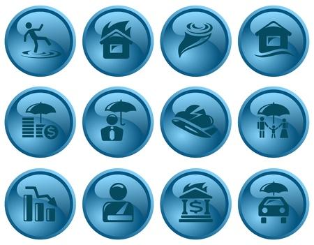 Insurance button set Stock Vector - 16423698