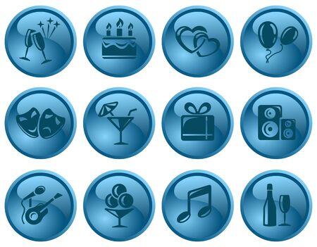 Party button set Stock Vector - 16423709
