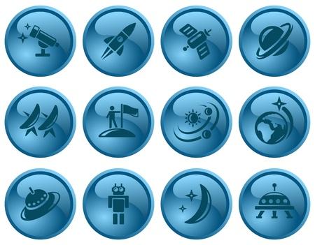 Space button set Stock Vector - 16423712