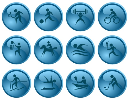Sport button set Stock Vector - 16423609