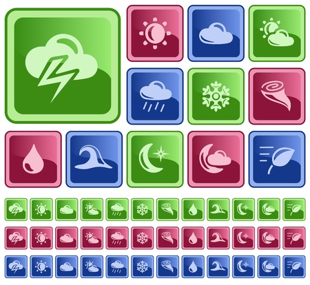 Weather button set Stock Vector - 16641430