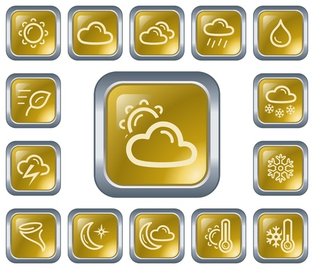 Weather button set Stock Vector - 16675298