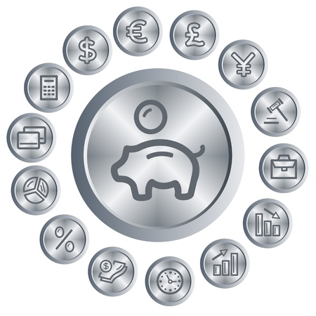 Finance button set Stock Vector - 16805467