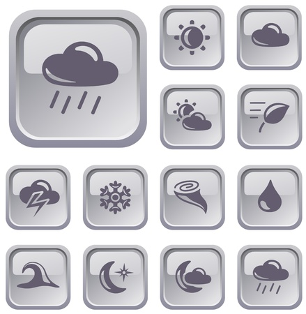 Weather button set Stock Vector - 16968719