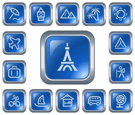 Travel button set Stock Vector - 17117572